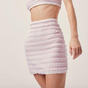 For Love and Lemons White Fondant Mini Skirt